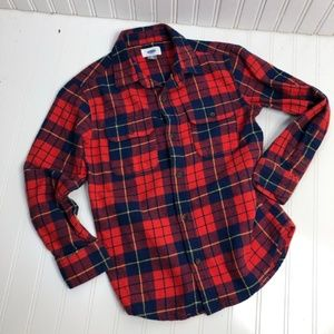 Old Navy Long Sleeved Boy's Flannel
